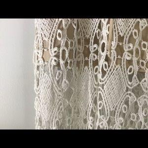 Sabo Skirt Cream Macrame Evening Dress